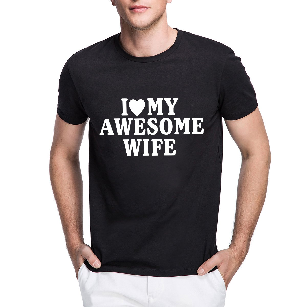 Loo Show S I Heart My Awesome Wife Funny T Shirt With