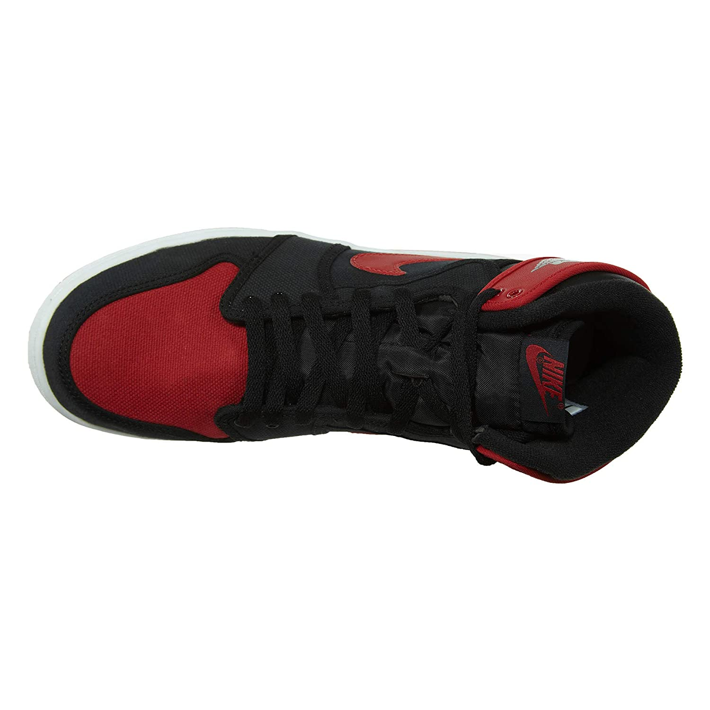 83bf55ddb66 Amazon.com | Nike Mens AJ1 Air Jordan 1 KO High OG Bred Black/Varsity  Red-White Leather Size 10 | Basketball