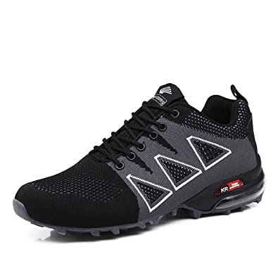 1c54286940fa69 TQGOLD Mens Quick Drying Trail Running Shoes Athletic Outdoor Hiking  Sneaker Air Cushion Lightweight Wide(