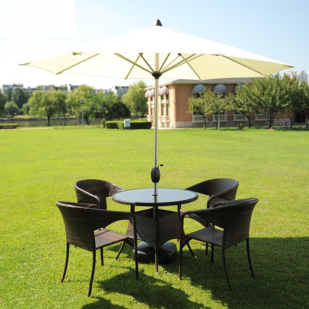 市場パティオアウトドアパラソル傘ガーデン芝テーブルサンキャノピーアルミポールUV保護270cm * 250cm (色 : オフホワイト) B07D37B384 オフホワイト