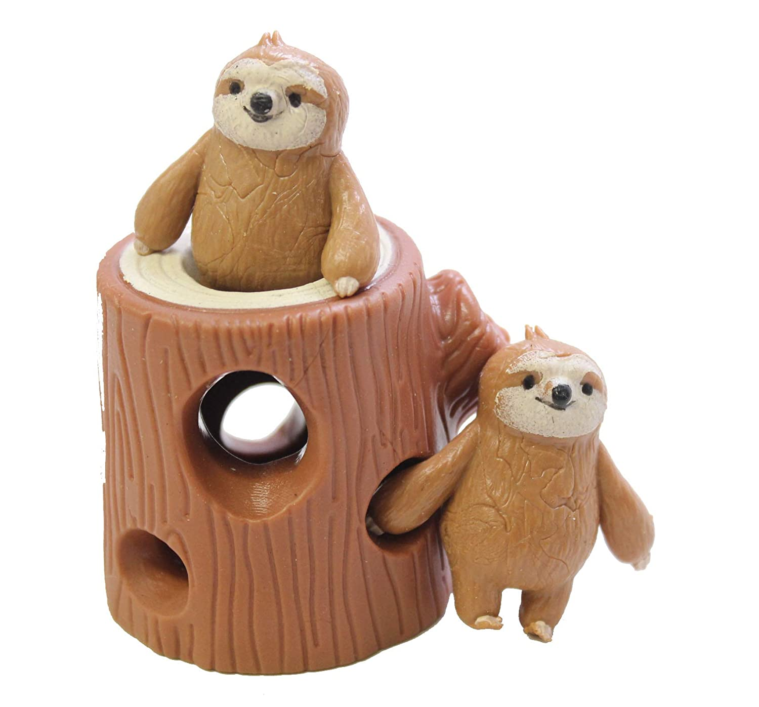 Curious Minds Busy Bags Sloths in Tree Stump Peek a Boo Stretchy Fidget Toy Soothing Calm Anxiety Focus ADD ADHD