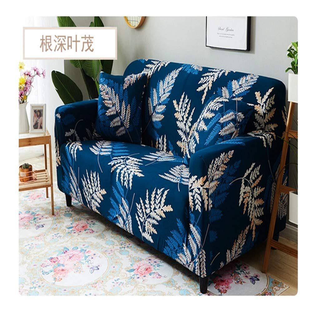 3seat VGUYFUYH Leaf Pattern Four Seasons Universal Non-Slip Sofa Cover Polyester All-Inclusive Elastic Home Universal Sofa Cover Simple Fashion One Set Durable Dust Pet Dog Predective Cover,3Seat