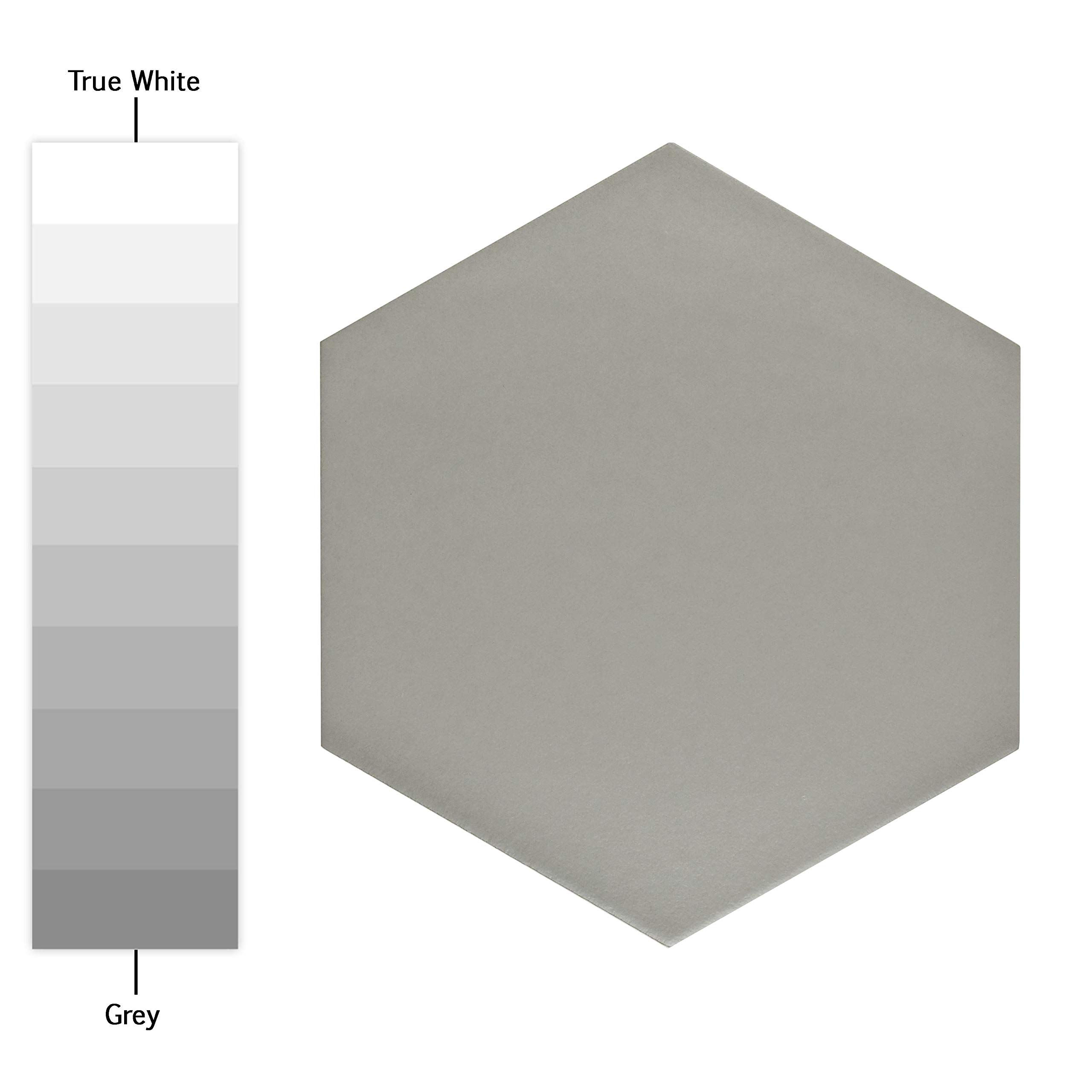 SomerTile FCD10STX Abrique Hex Porcelain Floor and Wall, 8.63'' x 9.88'', Silver Tile 8.625'' x 9.875'' 25 Piece by SOMERTILE (Image #2)
