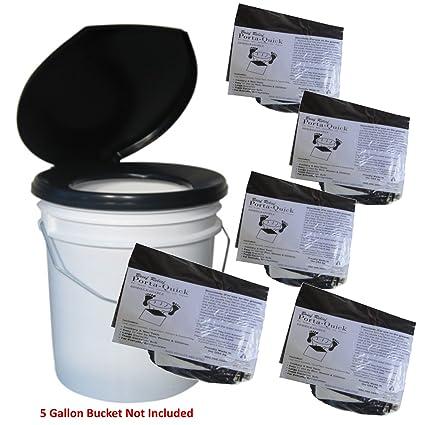 Amazon.com: Bucket Toilet Seat and 20-Use Porta-Quick NASA ...