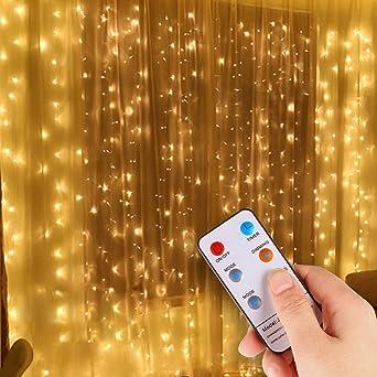 Led Weihnachtsbeleuchtung Balkon.Idesion Lichtervorhang 8 Modi Led Lichterkette Ip44 Wasserfest Für