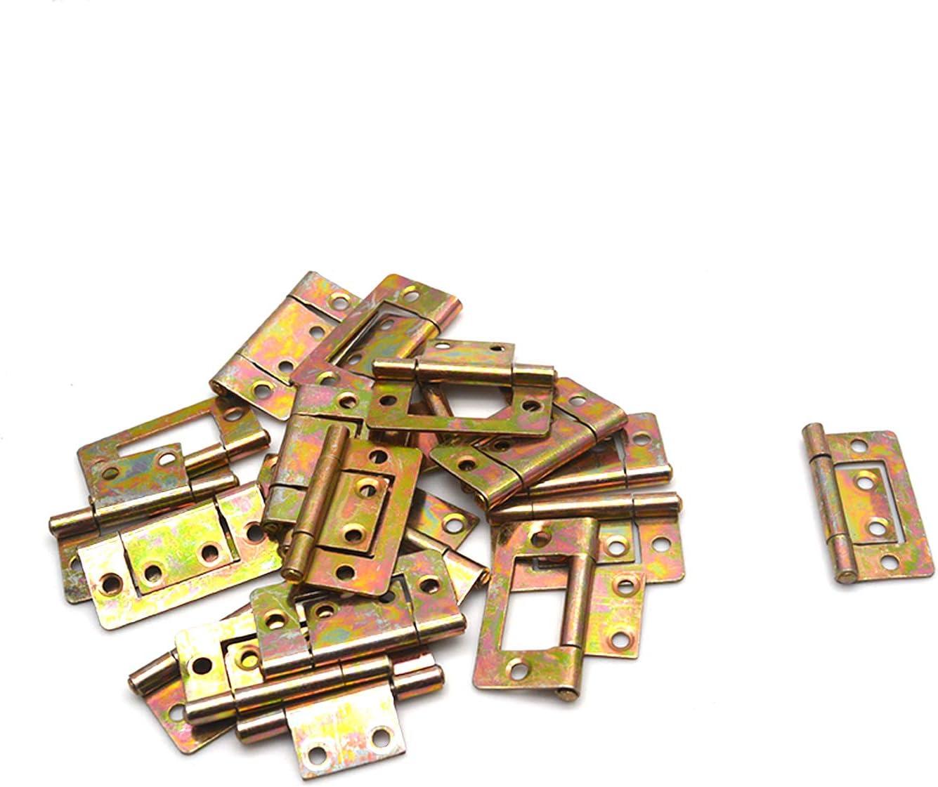 FarBoat 20Pcs Flush Hinge Bifold Hinge 1.6