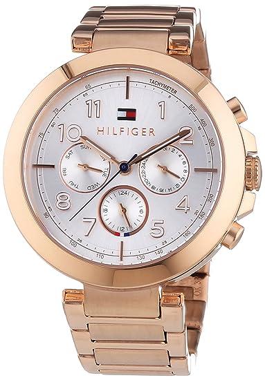 Tommy Hilfiger Watches CARY - Reloj Analógico de Cuarzo para Mujer, correa de Acero inoxidable
