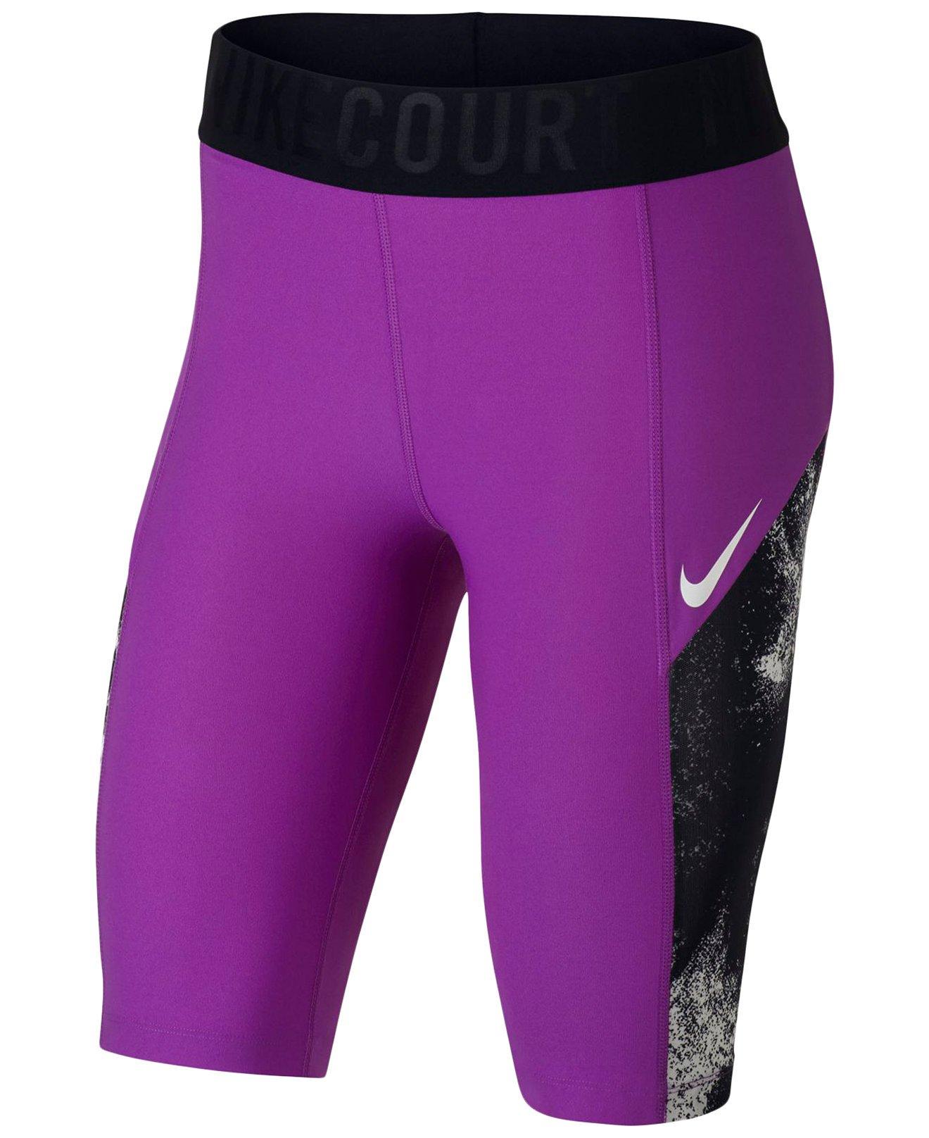 Nike Womens Power Graphic Printed Shorts Purple XS