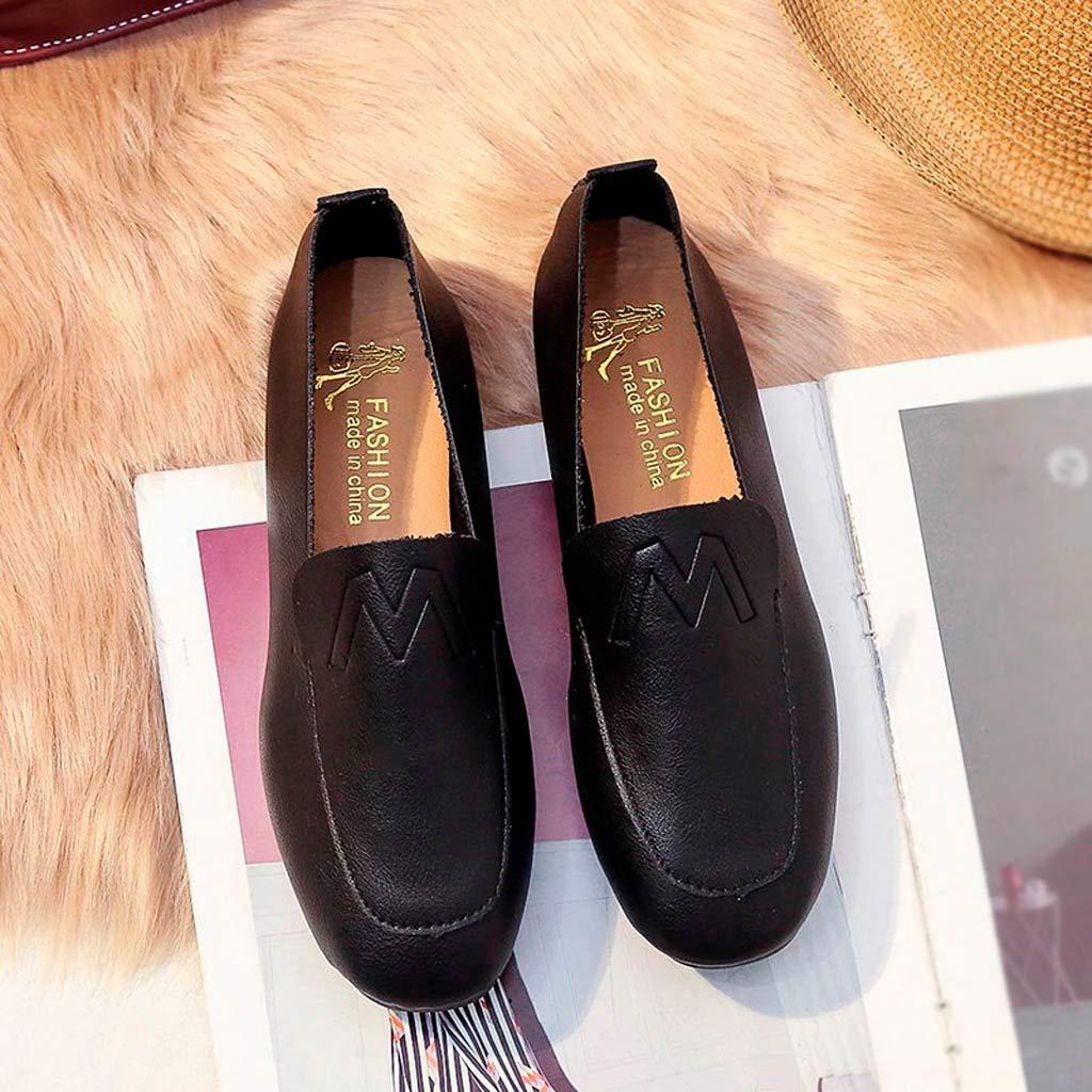 Sencillo Vida Zapatos de Cordones Mocasines Plataforma Cuña Negros para Mujer Loafer: Amazon.es: Zapatos y complementos
