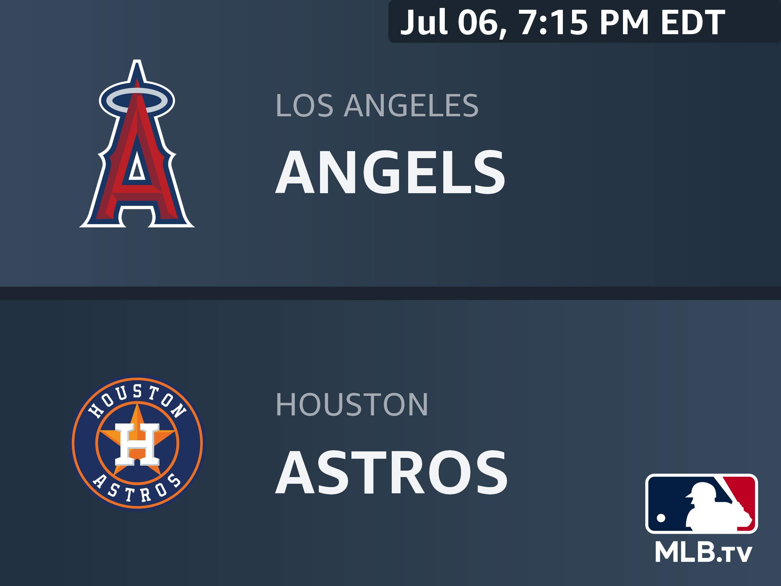 Amazon com: Watch Los Angeles Angels at Houston Astros
