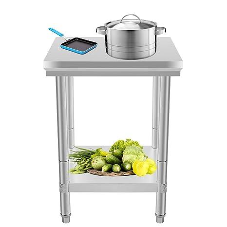 BuoQua 60x60x80cm Tavolo Da Lavoro Per Cucina Professionale Acciaio ...