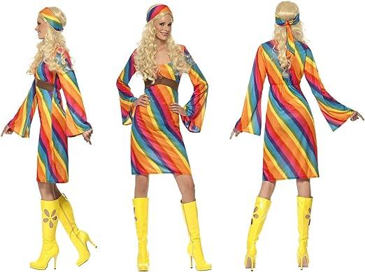 Fancy Dress World - Disfraz de Hippy de los años 70 para Mujer con ...