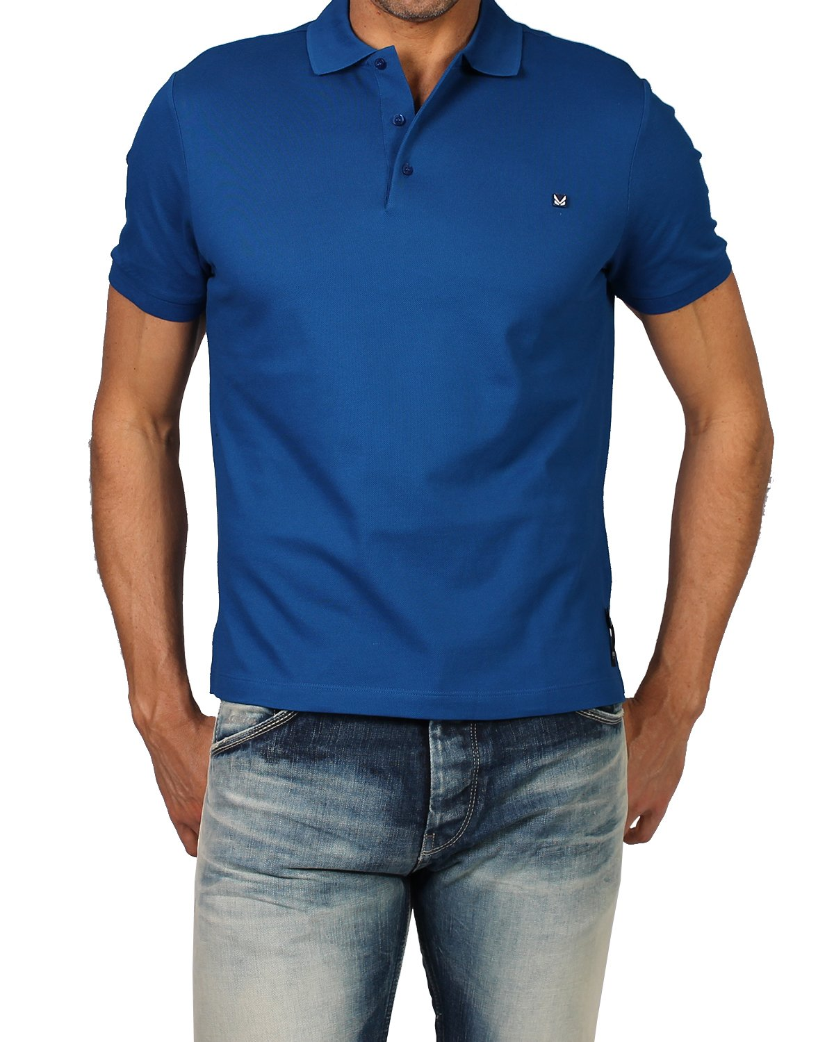 Fendi Men's Polo Bug (FY0707 1LW) - Blue, Large (IT/FR : 50)