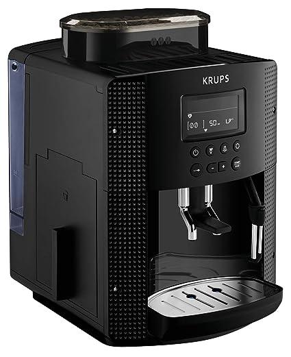 Krups Essential EA81P070 - Cafetera Superautomática, 15 Bares, Molinillo Café Metal, Selección de