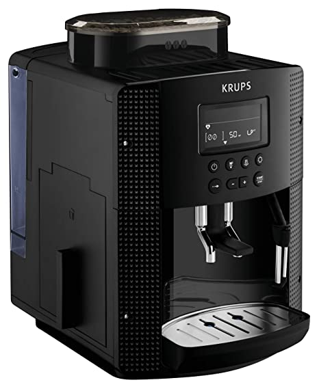 Krups Essential EA81P070 - Cafetera Superautomática, 15 Bares, Molinillo Café Metal, Selección de Cantidad e Intensidad de Café, Boquilla Vapor, ...