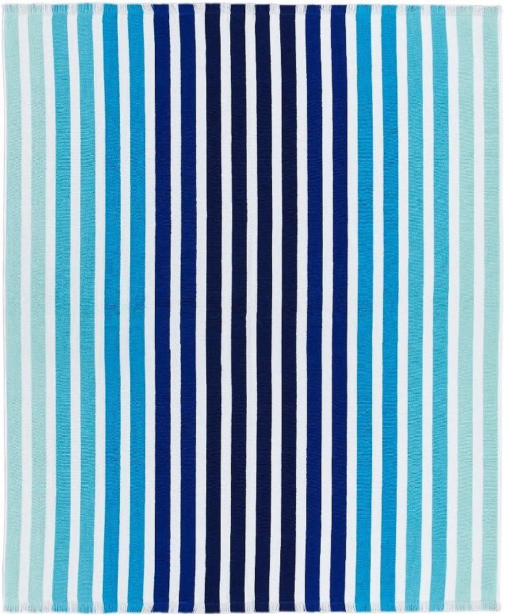 Lacoste Monaco 100% Cotton Beach Towel Blanket, 60
