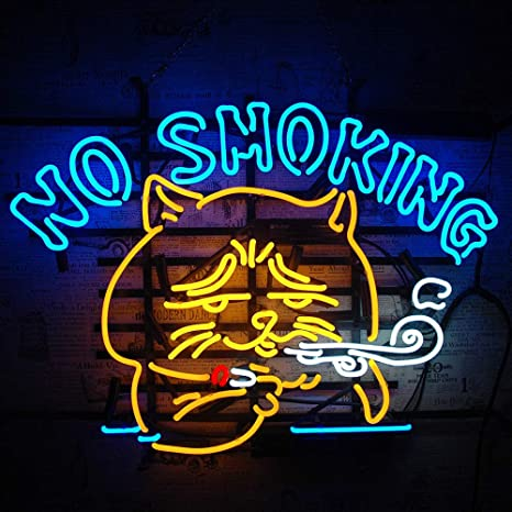 """Kitty Neon Sign Light Beer Bar Pub Wall Poster Party Decor Real Glass Tube12/""""x8/"""""""
