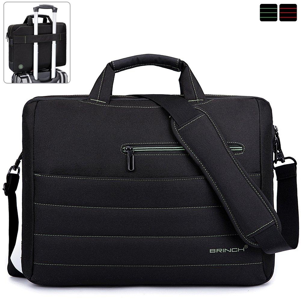 BRINCH 17.3 Inch Nylon Shockproof Carry Laptop Case Messenger Bag For 17-17.3 Inch Laptop/Notebook/MacBook/Ultrabook/Chromebook with Shoulder Strap Handles and Pockets (Dark Purple) Variation