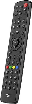Oferta amazon: One For All URC1280 - Contour 8 - Mando a distancia universal para controlar 8 aparatos - negro