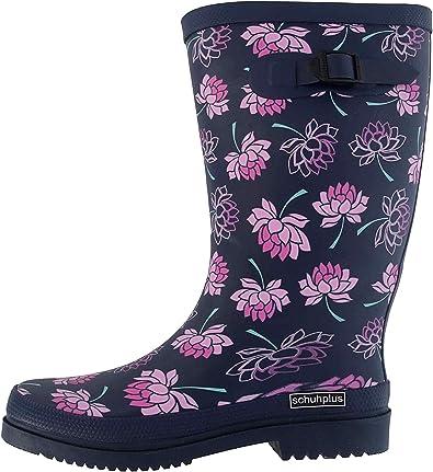 Botas De Goma Para Mujer De Schuhplus En Tallas Grandes Color Azul Color Azul Talla 44 Eu Amazon Es Zapatos Y Complementos