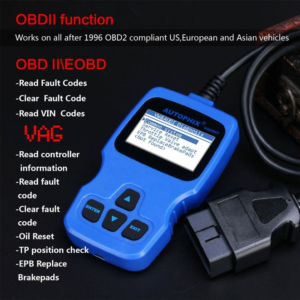 Autophix Vag007 Obd2 Obd Diagnostic Scanner For Check All Vw Audi Wiring Skoda And Seat Car Code Reader Engine Abs Airbag Transmission Full Systems Diagnsotic