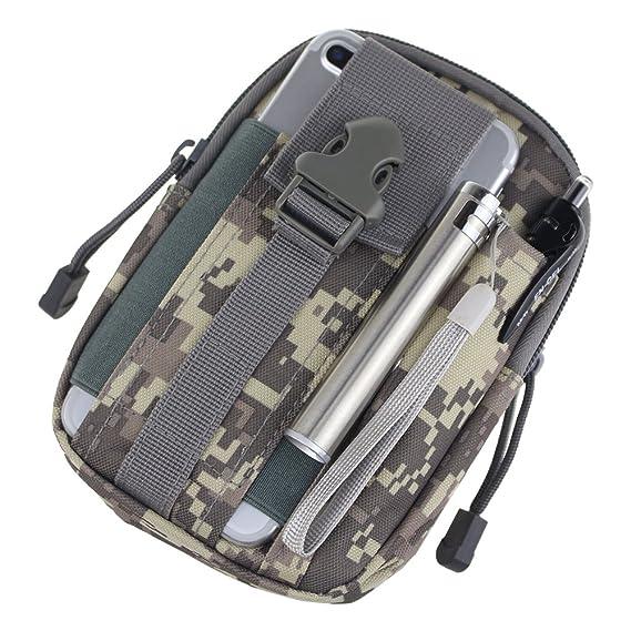 625a03ef7bc Funda táctica universal para uso al aire libre, estilo militar estilo  MOLLE, bolsa de cinturón, multiusos, ...