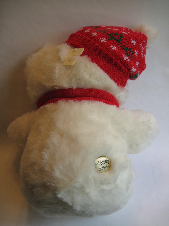 Amazon.com: 1996 Christmas Plush Teddy Bear Kmart 10th Anniversity ...