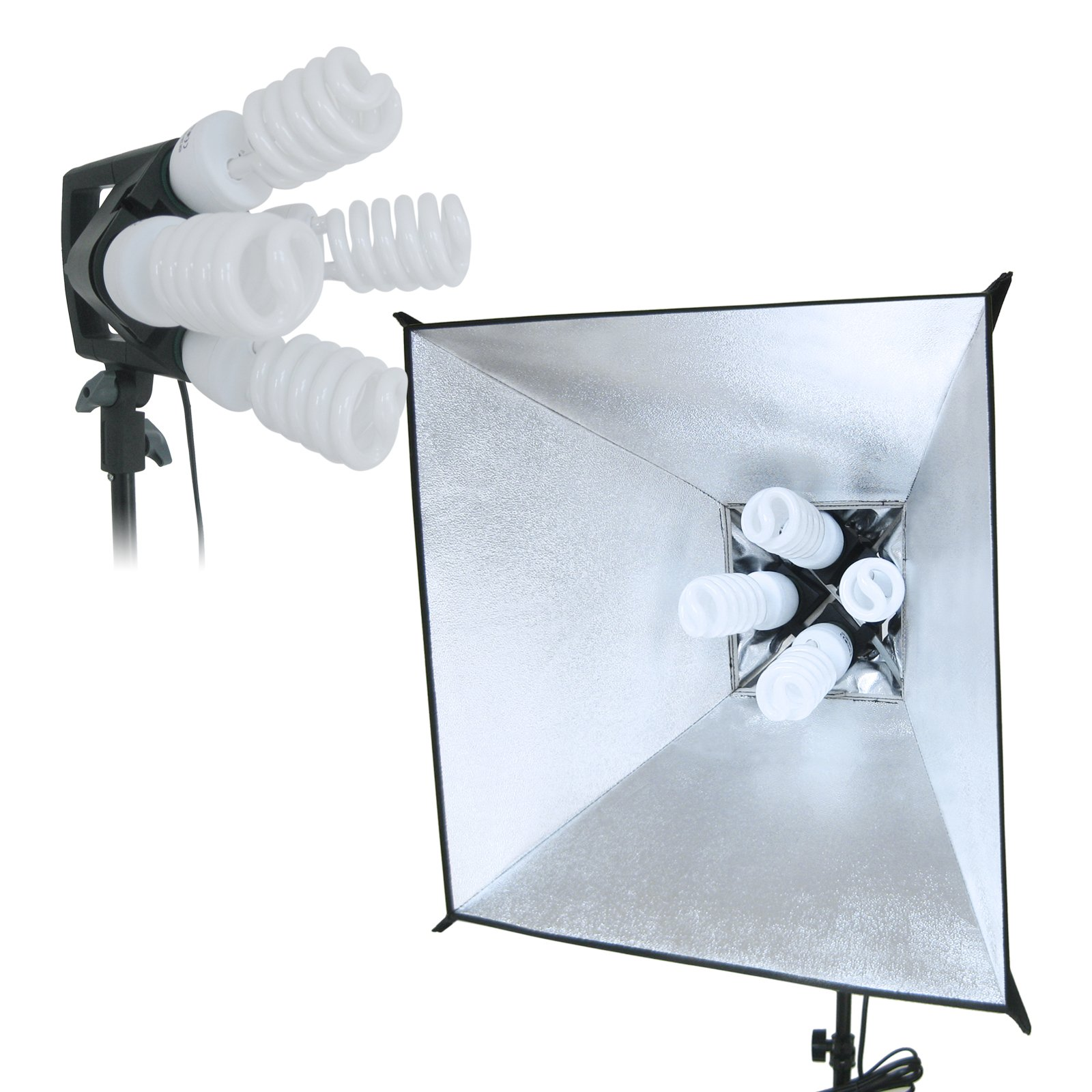 Linco Lincostore 2400 Watt Photo Studio Lighting 10x20ft White Backdrop Photography Background Stand Light Kit AM144-W by Linco (Image #3)