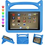 F i r e HD 8 Kids Case, F i r e HD 8 Tablet Case - Auorld Kid-Proof Case with Stand for All New HD 8 Tablet (Compatible with 2018/2017/2016 Release) (Blue)