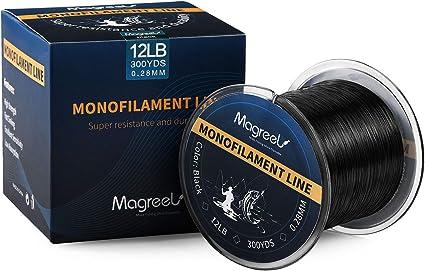 Magreel Ligne Tresse P/êche 274m en Monofilament 6-30LB 0.20mm-0.49mm Ligne de P/êche en Nylon R/ésistant /à labrasion pour P/êche /à Leurre en Mer en Eau Douce