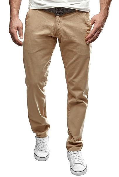 91b2b13bd9100d Merish Uomo Pantaloni Chino Cotone, Pantaloni di panno, SlimFit, Pantaloni  Casual Uomo,