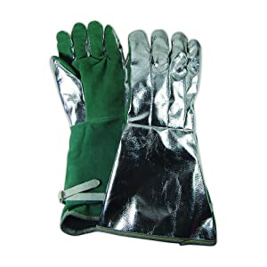 Magid Glove & Safety 85856-PS WeldPro 85856PS Aluminized Gentex/Leather Welding Gloves, 18