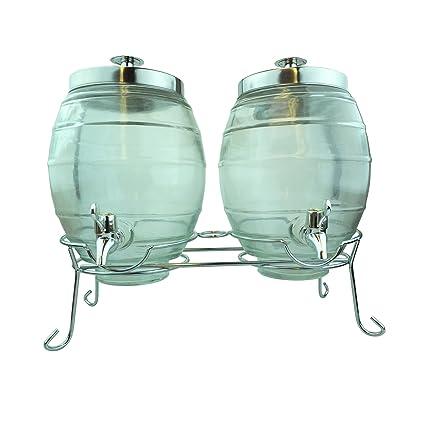 Bid Buy Direct® 3pc dispensador de cristal – juego de 2 dispensadores de cristal transparente