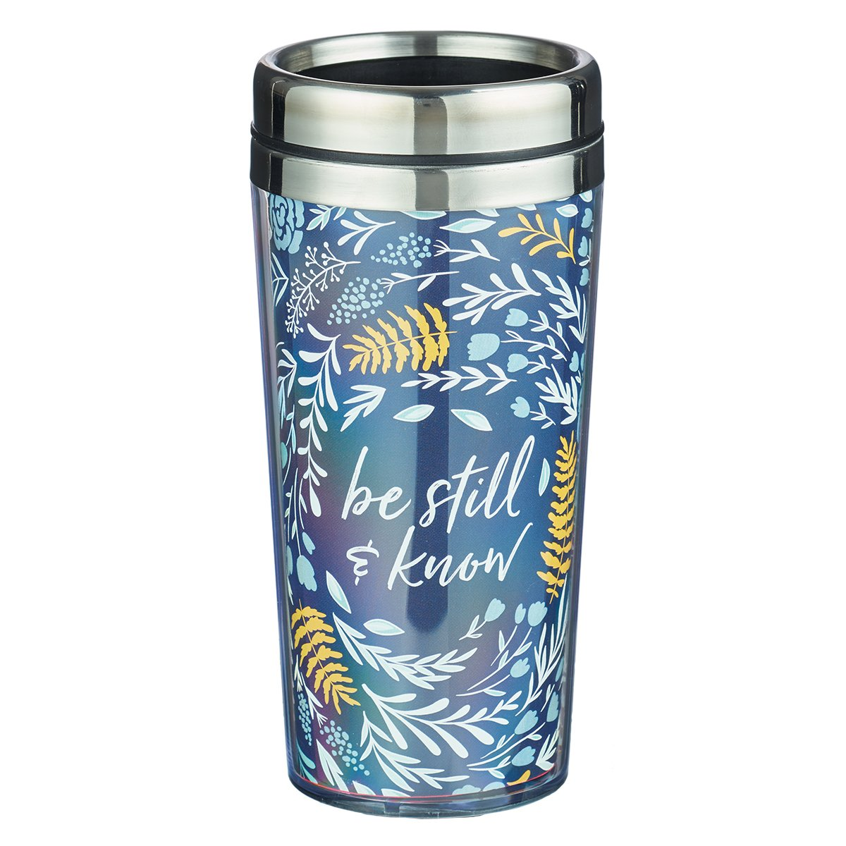 Coffee Travel Mug: Be Still - Psalm 46:10 by Christian Art Gifts