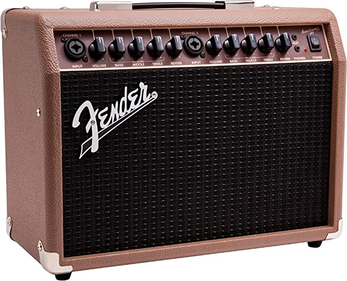 Fender Acoustasonic 40 - Amplificador de guitarra acústica (40 W ...