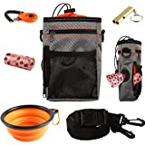 EDUPLINK Dog Treat Training Pouch Dog Training kit Large Capacity Easily Carries Pet Toys Kibble Treats Built-in Poop…