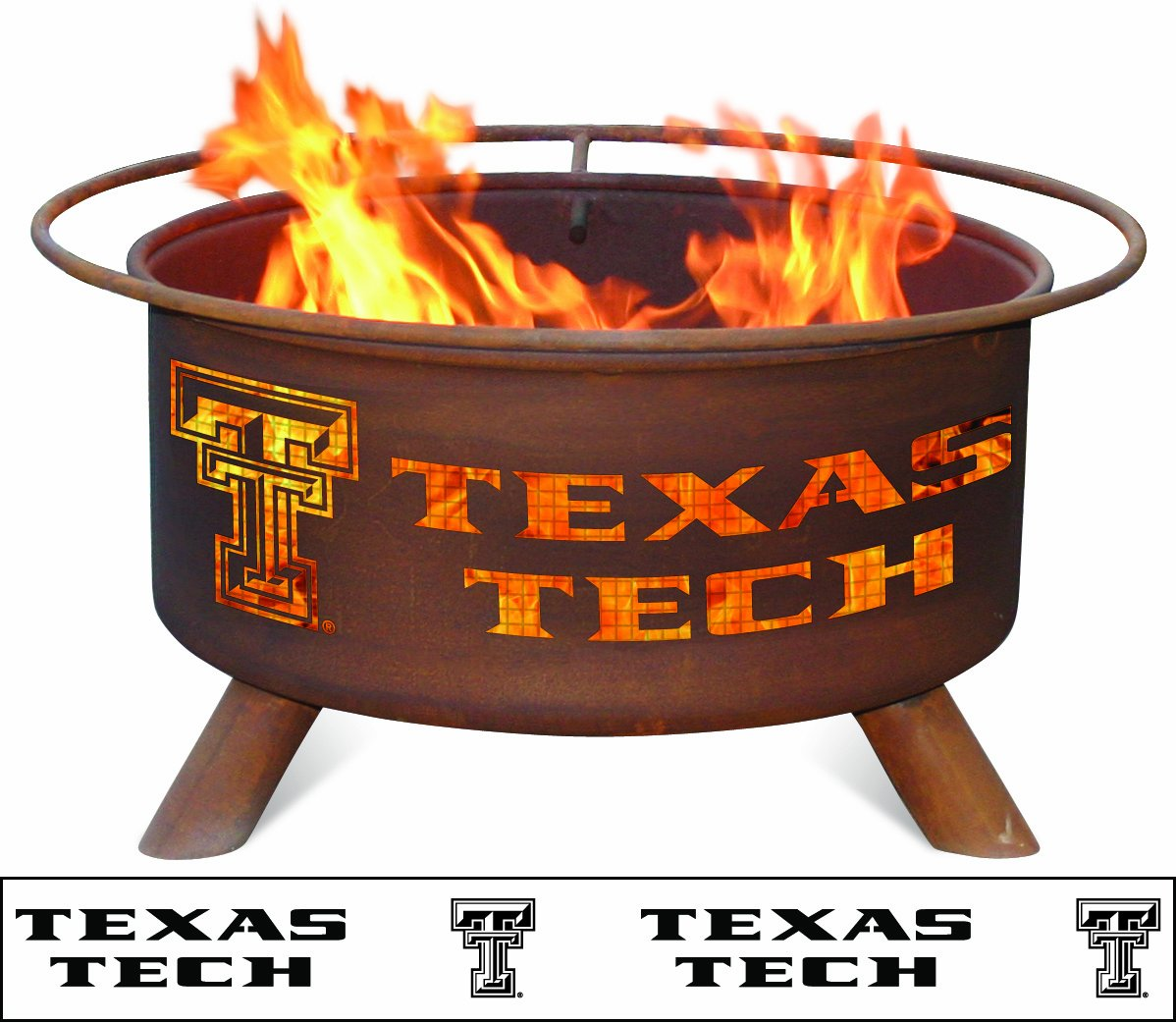 Patina Products F233, 30 Inch Texas Tech Fire Pit