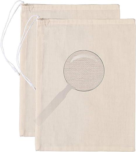 Colador de alimentos reutilizable colador de vino t/é caf/é yogur gasa fina malla nuez algod/ón filtro bolsa 8 x 30 cm