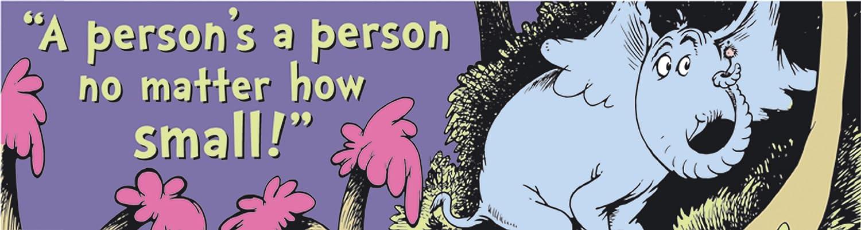 Eureka Dr. Seuss Back to School Horton Hears a Who Classroom Banner, 12'' x 45''