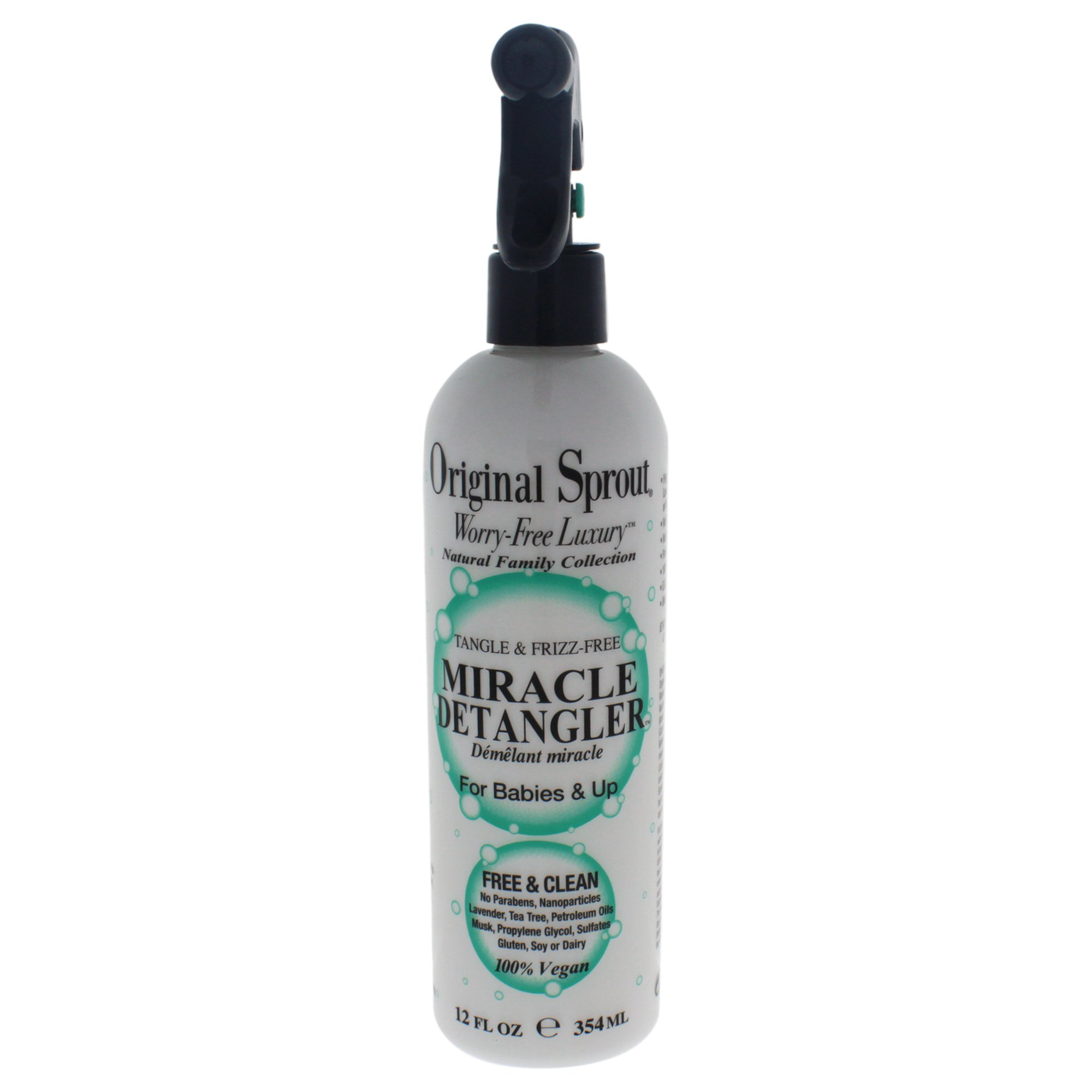 Original Sprout Miracle Detangler. All Natural Hair Care. Hair Moisturizer and Leave-In Conditioner Spray, 12 Fl Oz