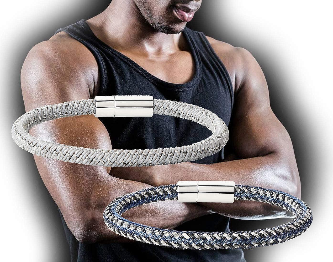 bracelet cuir biceps homme