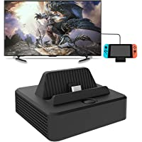 For Nintendo Switch TV Dock Station, Compact Switch to HDMI Adapter, Portable Switch Dock with USB 3.0 Port, Type-C Power Input Charging Dock Station Cradle for Nintendo Switch Controller