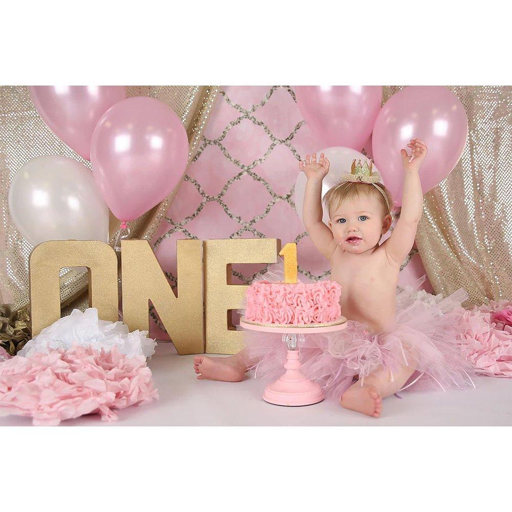 Baby Shower Girl Primo Compleanno Addobbi Compleanno PuTwo Palloncini Rosa e Bianchi 100 Pezzi 12 Pollici Palloncini Rosa Chiaro Palloncini Bianchi per Festoni Battesimo Bimba Addobbi Matrimonio