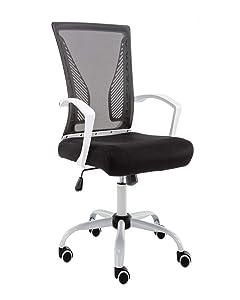 Modern Home Zuna Mid-Back Office Chair - White/Black