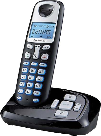 Sagemcom 253456855 - Teléfono inalámbrico con contestador, color negro [Importado del Reino Unido]: Amazon.es: Electrónica