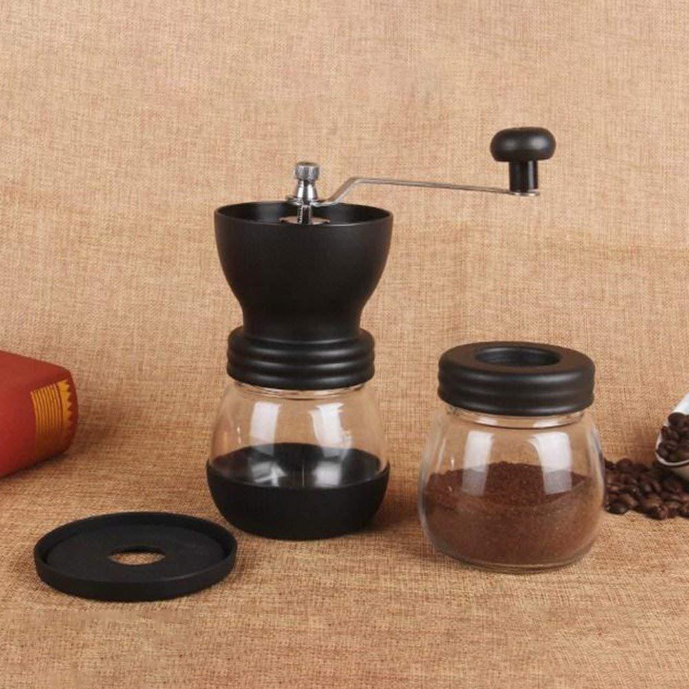Carcasa de Acero Inoxidable BORYLI Molino de caf/é Hecho a Mano Caf/é Manual Molinillo de caf/é Granos de caf/é Suministros de caf/é Molienda de n/úcleo de cer/ámica