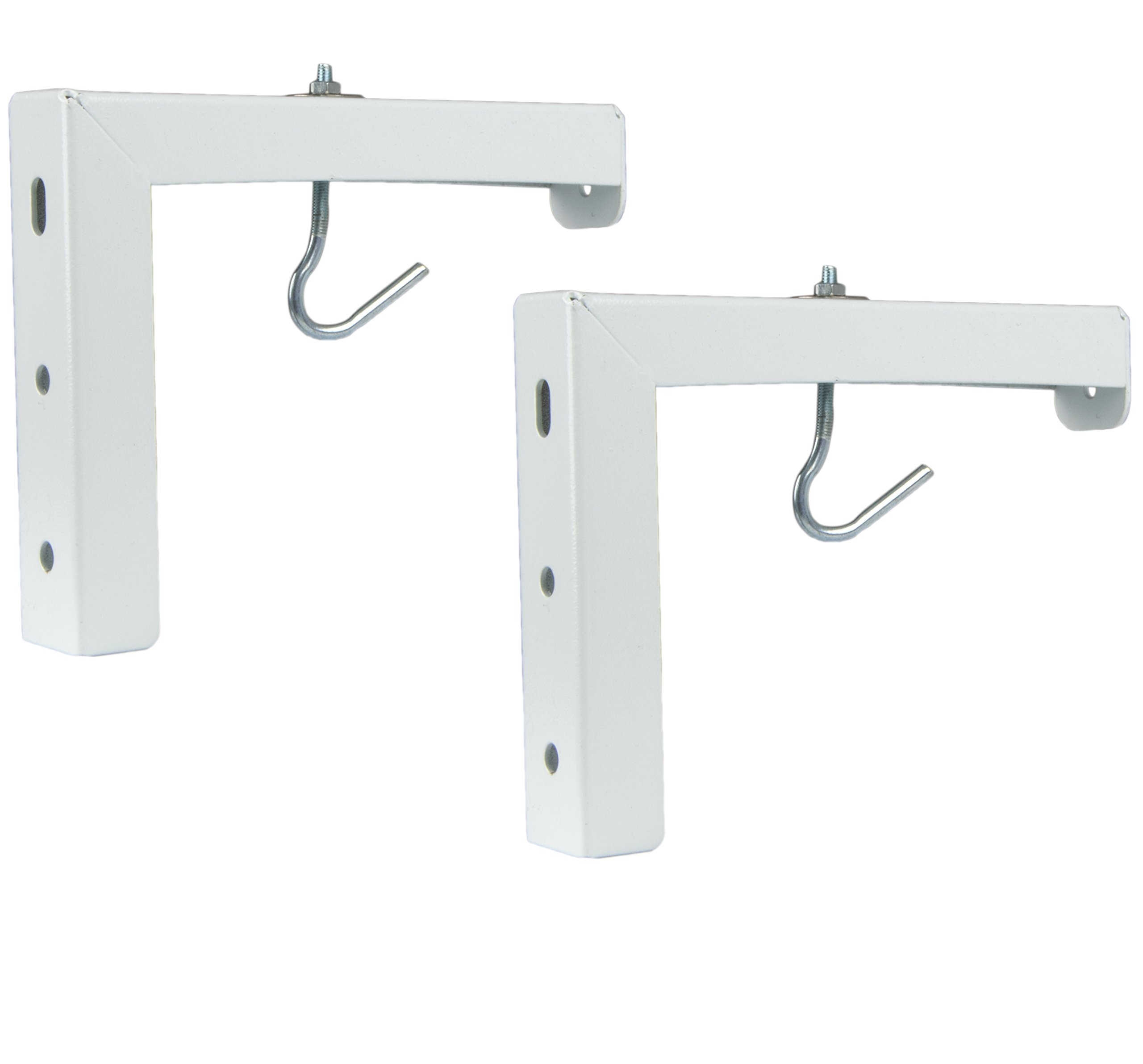 VIVO Universal Wall Hanging 6'' Adjustable L-Bracket Mount Plate Hook Kit for Projector Screens (MOUNT-PS01)