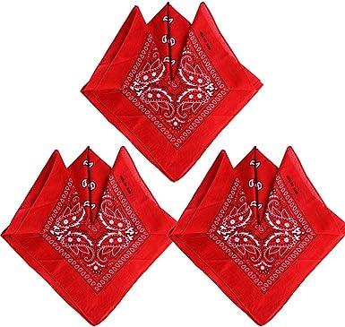 Bandana 100/% Coton Original Paisley Foulard accessoire Bandeau cheveux Echarpe Mouchoirs Homme Femme Enfant