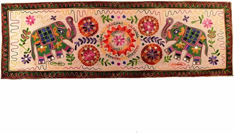 Purpledip - Camino de mesa pequeño vintage indio finamente ...