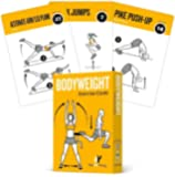 Exercise Cards BODYWEIGHT - Home Gym Workout Personal Trainer Fitness Program Tones Core Ab Legs Glutes Chest Biceps…